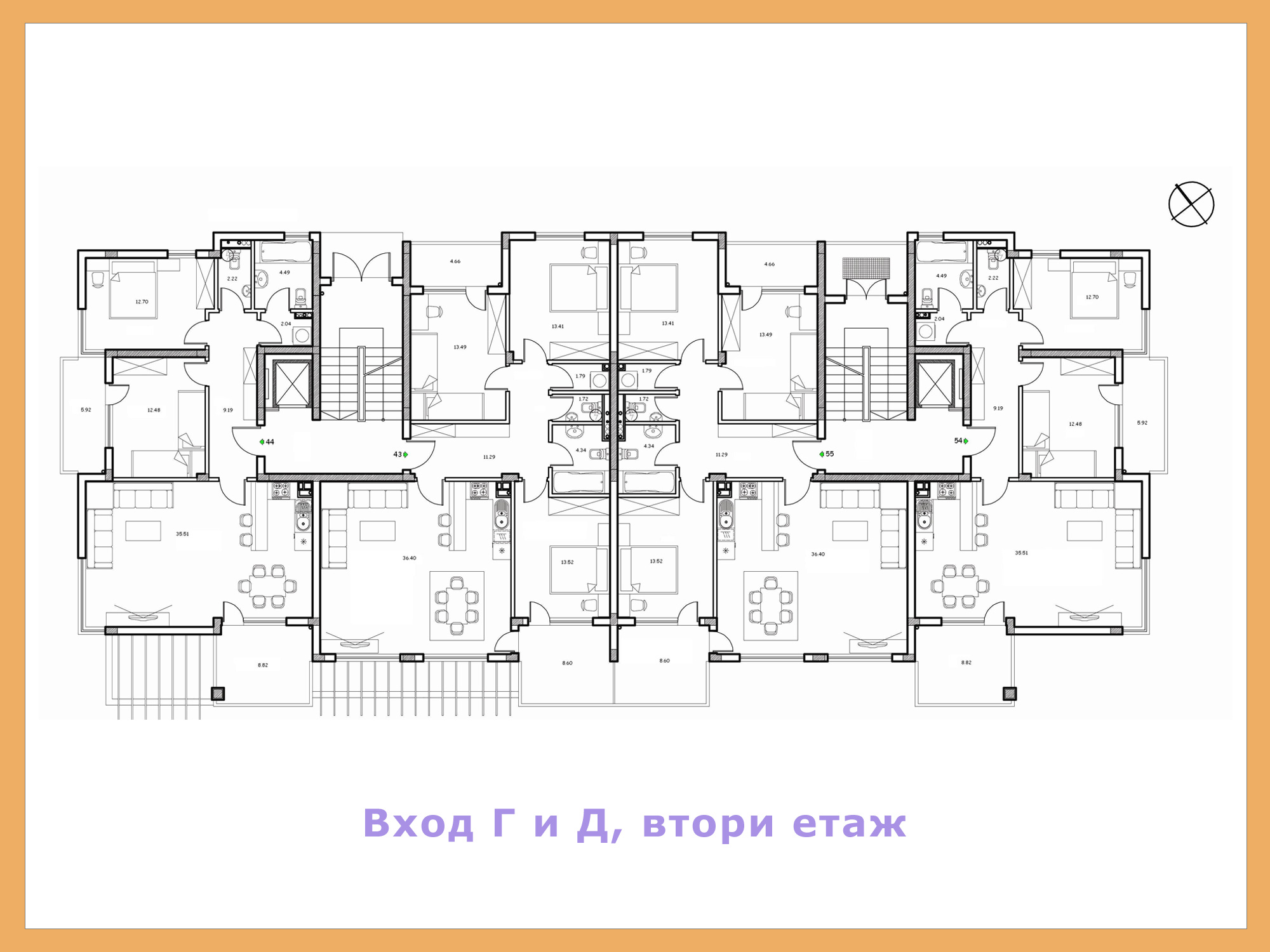 Apartment block floor plans floor plans for Two apartment house plans