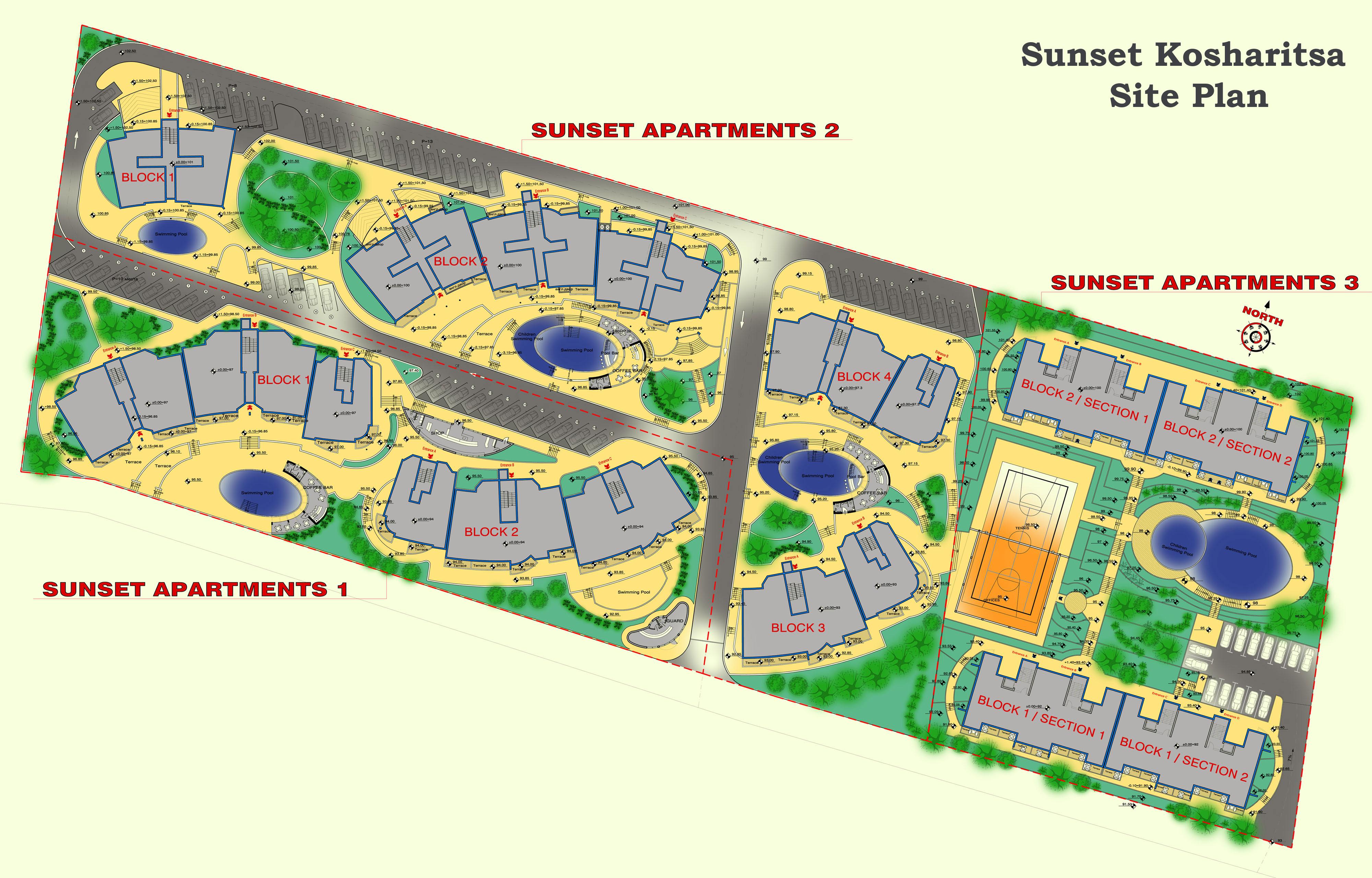 Sunset kosharitsa iii apartment complex in kosharitsa near for How to plan a website